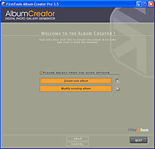 AlbumCreator Basic full screenshot