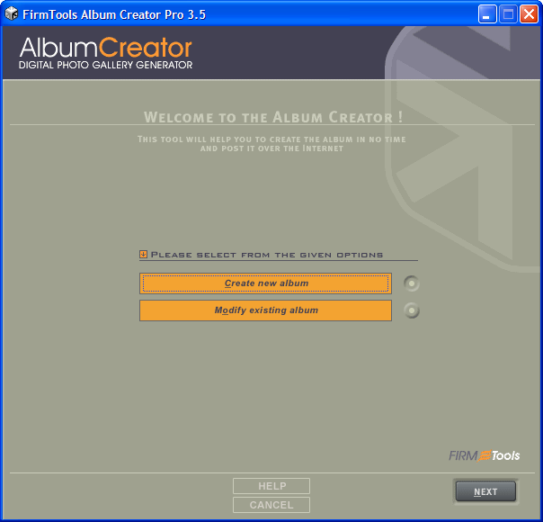 AlbumCreator Pro full screenshot