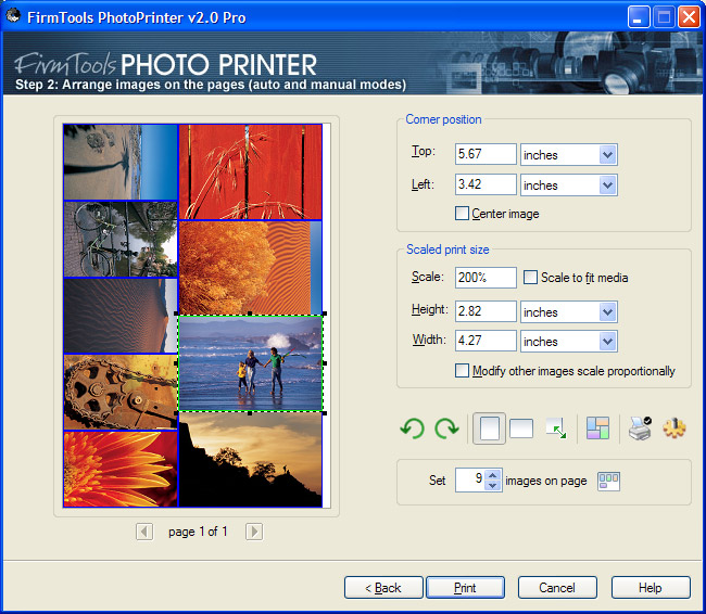 PhotoPrinter allows you to save money on expensive photo paper